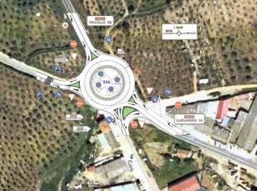 futura rotonda del palomar cuya ejecución será realizada por una empresa de Villanueva.