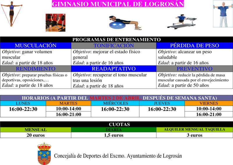 El gimnasio municipal abrir sus puertas con precios for Precios de gimnasios