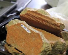 Detalles fragmentos de cerámica bajo-medieval del sector este