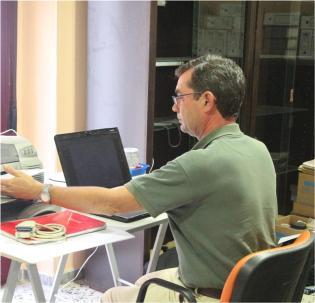 Mark Hunt Ortiz, Director de las excavaciones.