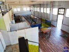 Cafetería-Restaurante de la mina, cerrada desde hace dos meses.