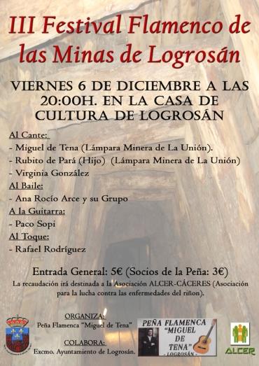 III Festival Flamenco Minas de Logrosán copia