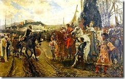 La rendición de Granada por Francisco Padilla