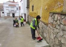 Empleadas municipales del servicio de limpieza