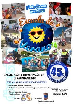 CARTEL escuela verano 14