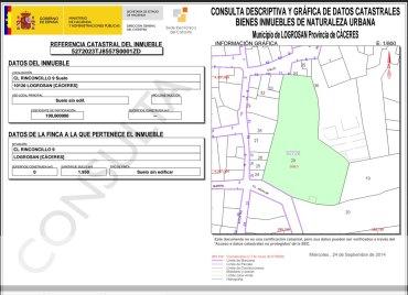 """Datos catastrales de la """"Plaza Chica"""""""