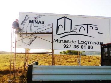 cartel gran panel Minas de Logrosán