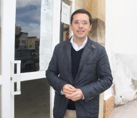 Saturnino Corchero, Director General de Administración Local  Justicia e interior, ayer en Logrosán
