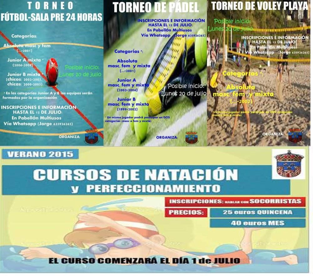 El Ayuntamiento publicita actividades deportivas veraniegas para todas la aficiones