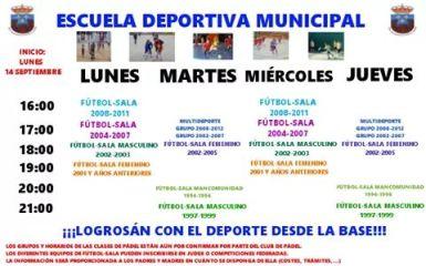 escuela deportiva municipal 2015-16