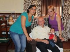 Sebastián Tejeda. 4 generaciones de los Tejeda juntas en una imagen.
