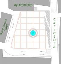 Plano esquemático del trazado que ofrecerá el pavimento
