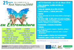 Cartel Día Europeo de la Red Natura