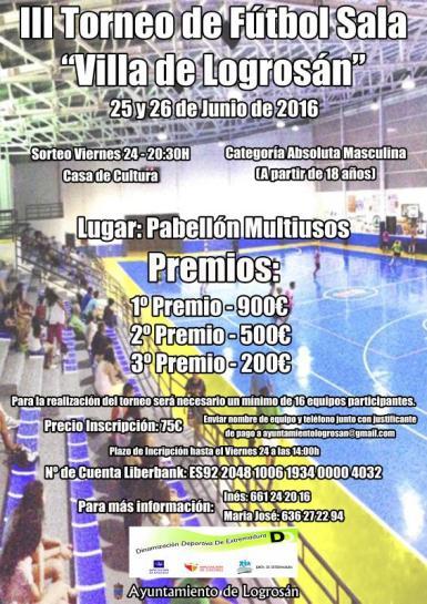III Torneo de Fútbol Sala Villa de Logrosán
