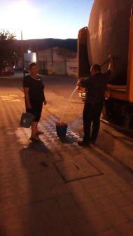 Camión cisterna en el reparto de anoche