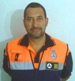 José Ignacio Santos, delegado autonómico de los voluntarios de Protección Civil Extremadura.
