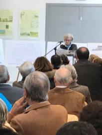 Alcaldesa en el acto de presentación