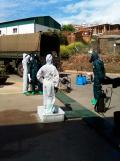 Brigada militar fumigando coronavirus (2)